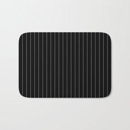 Black White Pinstripes Minimalist Bath Mat