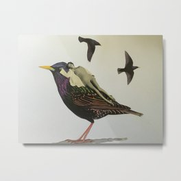 Resting on the Wings of Impatience Metal Print