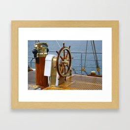 Helm wheel Framed Art Print