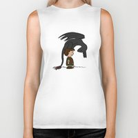 hiccup Biker Tanks featuring He's Your Dragon, Hiccup by mikaelak