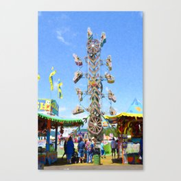 Carnival  Zipper 2 Canvas Print