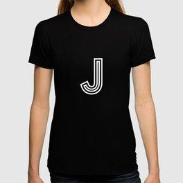 Track - Letter J - Black and White T-shirt