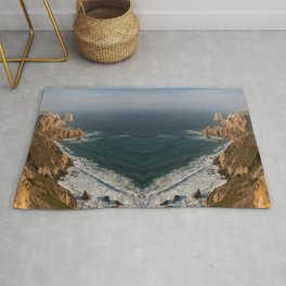 arrow bay abstract nature photography Rug