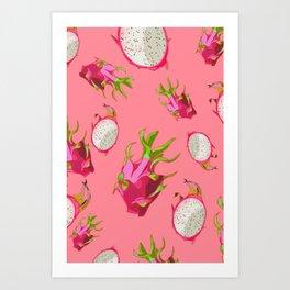 Dragonfruit Pattern Art Print