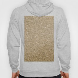 Modern abstract elegant chic gold glitter Hoody