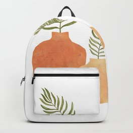 Terracotta vases and plants Backpack