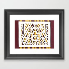 Aztec Pattern Papercut Framed Art Print