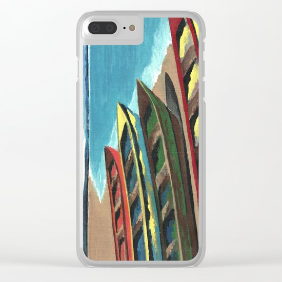 Boats In A Row Clear iPhone Case