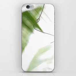 Peaceful green shades of graceful nature iPhone Skin