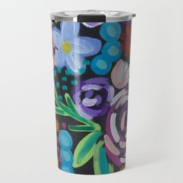 Shabby Chic Flower Power Travel Mug