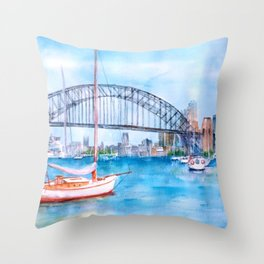 Beautiful Sydney Harbour Throw Pillow