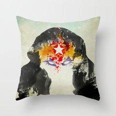 Muscle Girl Throw Pillow