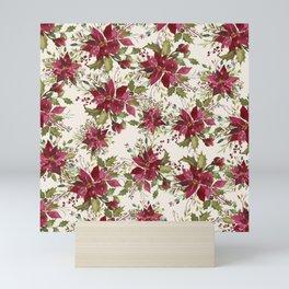 Poinsettia Pattern Mini Art Print