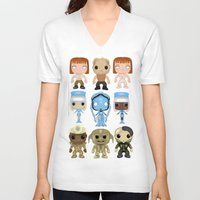 fifth element V-neck T-shirts featuring The Fifth Element Customs by SpaceWaffle