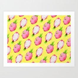 Tropical Dragon Fruit Party Art Print