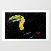 toucan Art Prints featuring TOUCAN by ARCHIGRAF