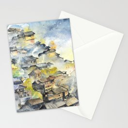 Morning in Chinese Village Stationery Cards