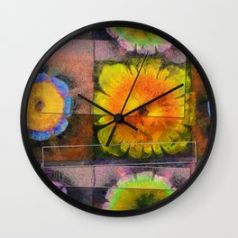 Prehepaticus Framework Flower  ID:16165-082221-45091 Wall Clock