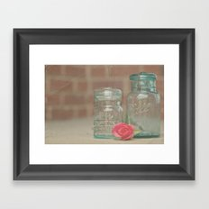 Vintage Ball Jars Framed Art Print