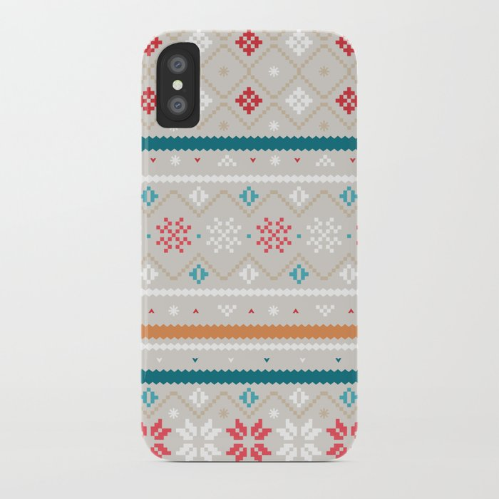 FairIsle - light iPhone Case