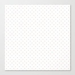 Mini Pale Millennial Pink Pastel Polka Dots On White Canvas Print