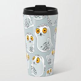 Snowy Owls. Travel Mug