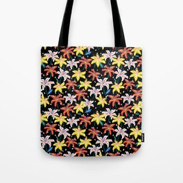 Hemerocallis bold night flower print Tote Bag