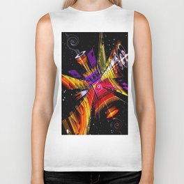 Cosmic fractal abstract. Biker Tank