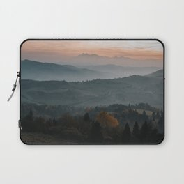 Hazy Mountains - Landscape and Nature Photography Laptop Sleeve