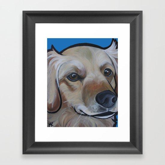 Josie (blue) Framed Art Print