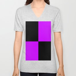Big mosaic purple black Unisex V-Neck