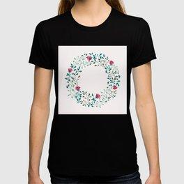 Spring Roses Wreath Pink Blush T-shirt
