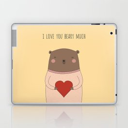 I LOVE YOU BEARY MUCH Laptop & iPad Skin