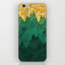Abstract Vivid Green Mountains iPhone Skin