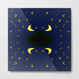 forest with moon and stars (5-2-19) Metal Print