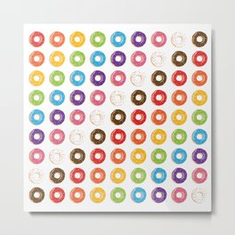 Yup, Some Rainbow Doughnuts Cause Why Not? Metal Print
