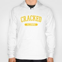 cracked Hoodies featuring Cracked Alumni by The Cracked Dispensary