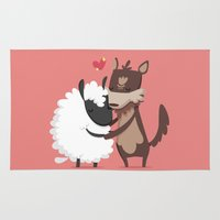 lamb Area & Throw Rugs featuring Lamb by Alfonso Cervantes