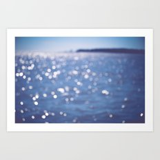 Indigo Sea Art Print