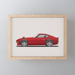 Legendary Classic Red 240z Fairlady Vintage Retro Cool German Car Wall Art and T-Shirts Framed Mini Art Print