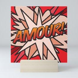 Comic Book AMOUR! Mini Art Print