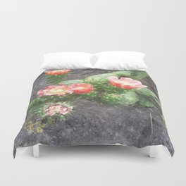 A cactus in its bloom Duvet Cover