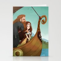 vikings Stationery Cards featuring Vikings by Supergna