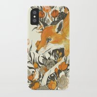 sister iPhone & iPod Cases featuring fox in foliage by Teagan White