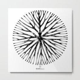 GEOMETRIC NATURE: LILY w/b Metal Print
