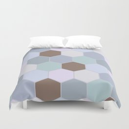 Violet pastel shades hive Duvet Cover