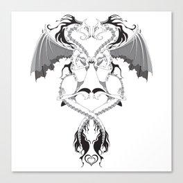 Love Dragons Canvas Print