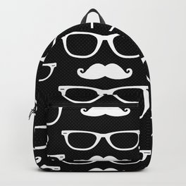 Hipster Pattern Black and White Backpack