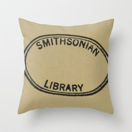Smithsonian library stamp Throw Pillow