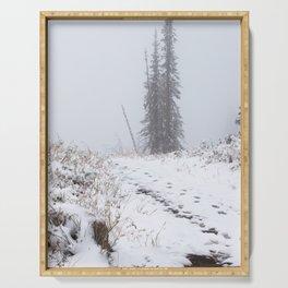 Snow in Teton Pass Serving Tray